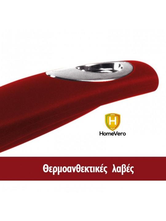 HomeVero Σετ αντικολλητικά τηγάνια 3τμχ. σε μπουργουντί χρώμα HV-3001