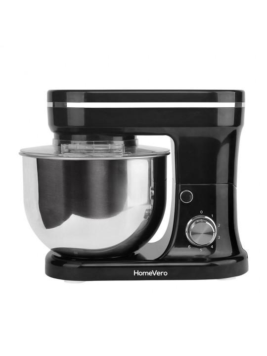 HomeVero Επιτραπέζιο μίξερ - Κουζινομηχανή 1200W σε μαύρο χρώμα HV-24461BL