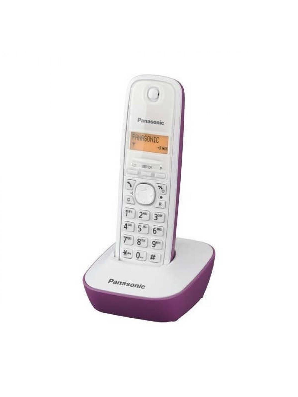 Ασύρματο Ψηφιακό Τηλέφωνο Panasonic KX-TG1611GRF Λευκό-Μώβ