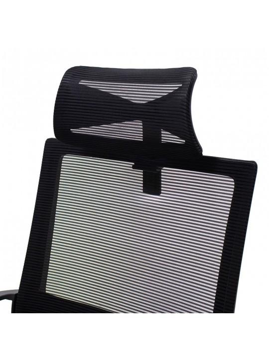 Καρέκλα γραφείου διευθυντή Batman pakoworld με ύφασμα mesh χρώμα μαύρο