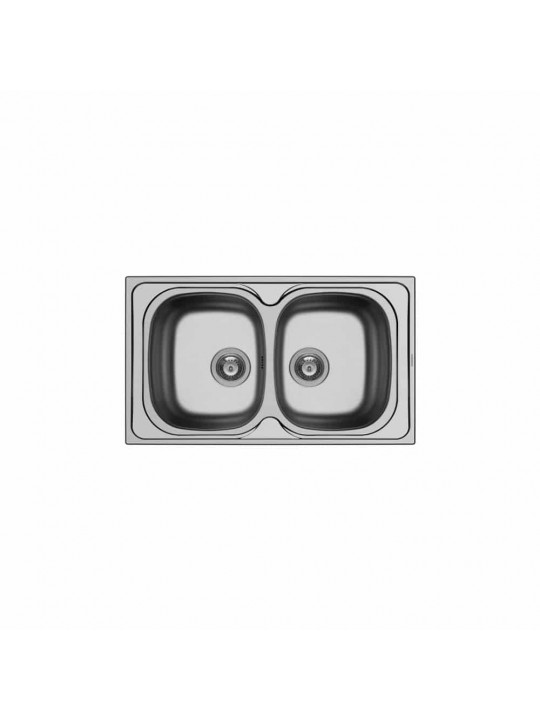 Νεροχύτης ανοξείδωτος Maidtec by Pyramis σειρά Derby (86x50) 2B
