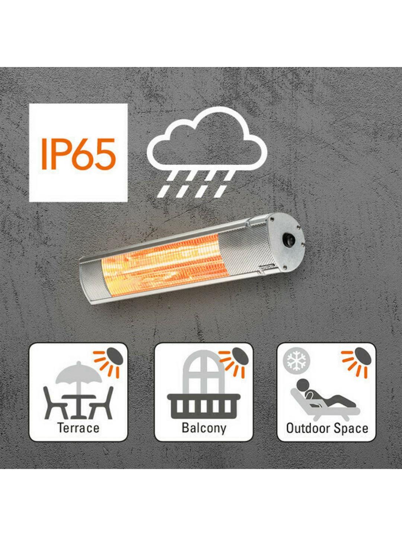 Θερμάστρα τοίχου εξωτερικού χώρου υπέρυθρης θέρμανσης TROTEC IR 2010 2KW